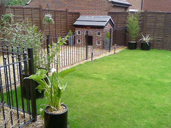 Justkennels designer dog kennels the gallery for Garden designs for dogs